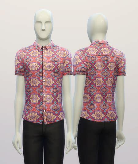 nailhead pattern shirt rusty nail cuffed shirt hippie pattern sims 4 downloads