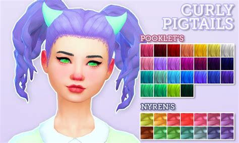 pigtails hair sims 4 1000 images about sims 4 hair on pinterest posts the