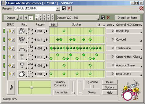 midi drum pattern library slicydrummer midi fx v1 01 cakewalk clap compu