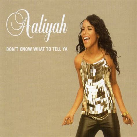 aaliyah rock the boat album cover don t know what to tell ya uk cd aaliyah songs