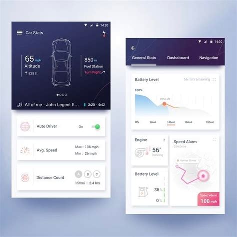 mobile layout design inspiration electric car app ui design inspiration mobile