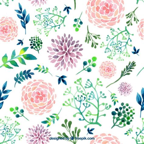 watercolor pattern with purple flowers vector free download watercolor flowers vectors photos and psd files free