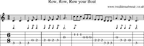 row your boat guitar chords row boat guitar tab row row boat