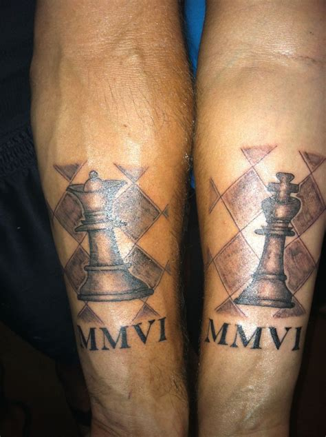 king and queen chess piece tattoos our king and chess tattoos tattoos