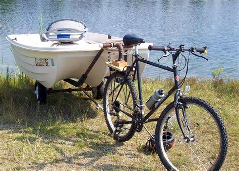 motor boat bike tow a boat with a bike