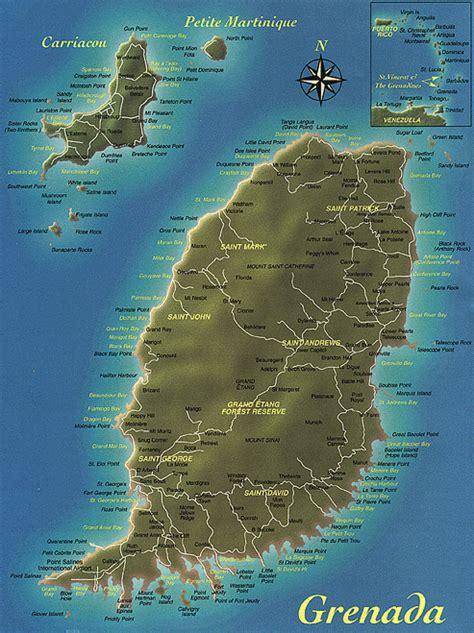 map of grenada island theresa poverty in grenada