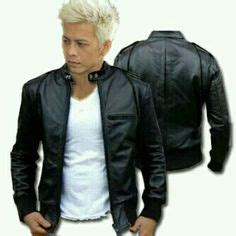 Jaket Kulit Premiumjaket Kulit Ariel guys guys and biker jackets on
