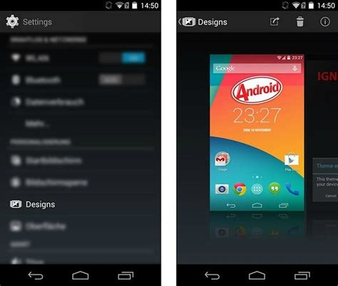 themes for rooted android kitkat android 4 4 kitkat get the look on your smartphone