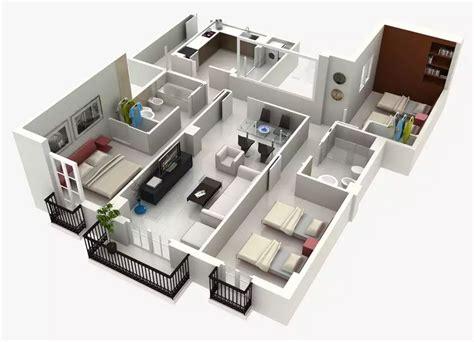 planos 3d recamaras con vestidor y bano 3d planos de casas