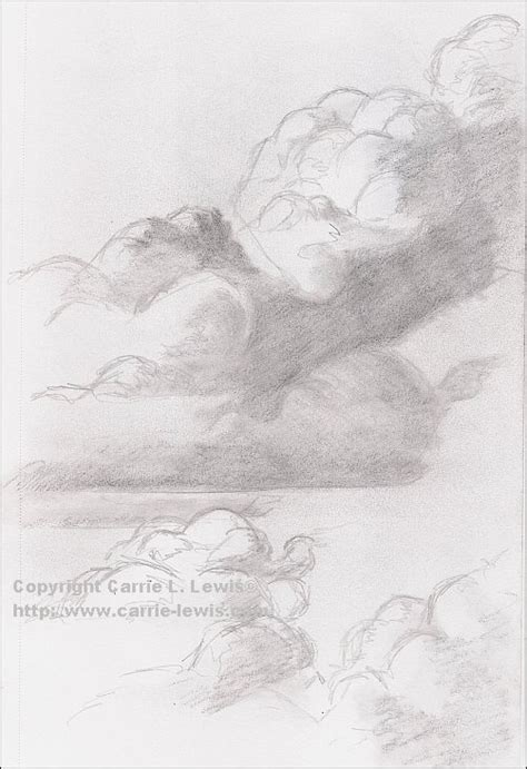 how to a cloud l cloud pencil sketch pencil and in color