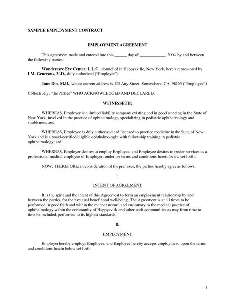 Working Agreement Letter Template Work Contract Sle Sle Contract Jpg Pay Stub Template