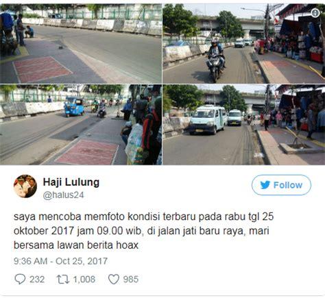 berita tanah abang semakin semrawut terbaru pkl duduki trotoar di tanah abang disebut berita hoax ini