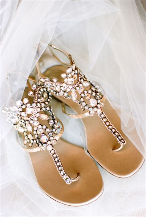 Gold Flat Bridal Shoes by Pink Ombre Gold Glitter In Paradise We