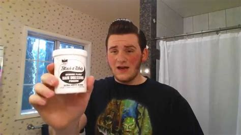 Pomade Black And White black and white genuine pluko hair dressing review