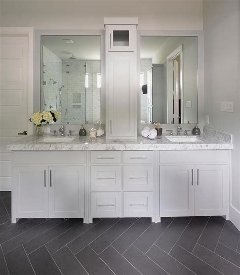 bathroom with grey tile floor gray bathroom with slate herringbone tiled floor