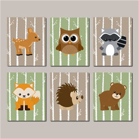 Woodland Creatures Nursery Decor Woodland Nursery Woodland Animals Wall From Lovelyfacedesigns On