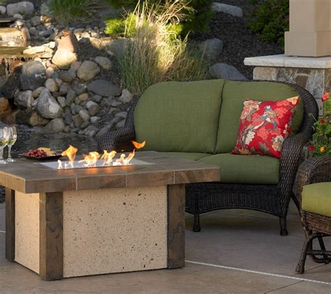 arch gas surround outdoor fireplace