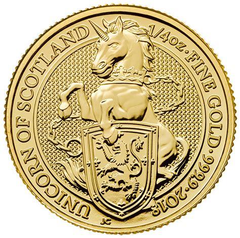 queen s queen s beast unicorn 1 4 oz gold 2018 buy online