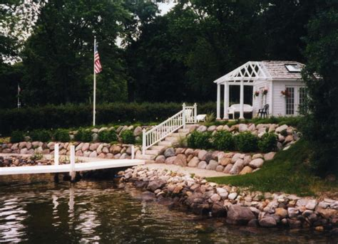 Basic Living Room Decorating Ideas by Tiered Landscaping Design Ideas Lakefront Property Lake