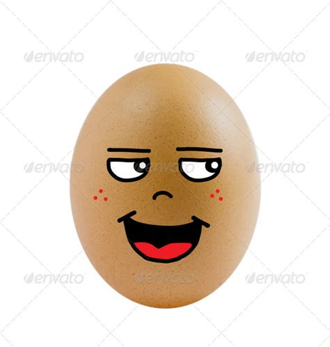 egg shaped face egg with funny face beige brown comic drawing egg