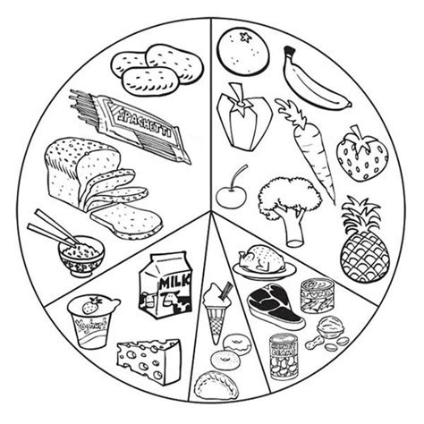 health food coloring pages coloring pages