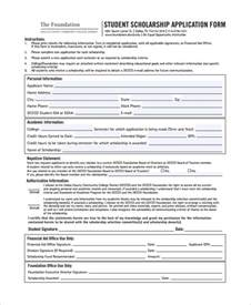 Scholarship Forms Template by Sle Scholarship Form 8 Documents In Pdf Word