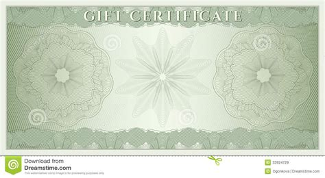 money design template voucher gift certificate coupon money stock vector