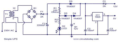 simple ups electronic circuits and diagrams electronic