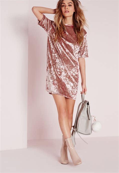 Velvet Umbrella Skirt Rok Velvet Polos oversized crushed velvet t shirt dress pink dresses t shirt dresses missguided