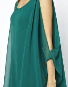 Teal bare shoulder asymmetrical chiffon dress casual dresses women