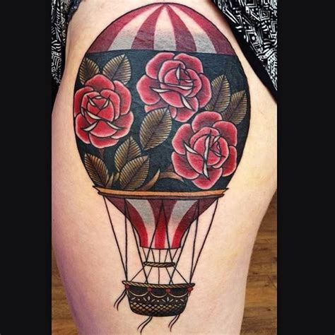 tattoo of hot air balloon hot air balloon tattoos the are out of this world amazing