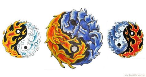 fire and water tattoo designs powerful elemental water yin yang flash http