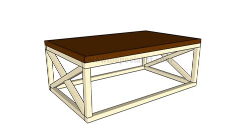 Rustic Coffee Table Plans Rustic Coffee Table Plans Howtospecialist How To Build Step By Step Diy Plans