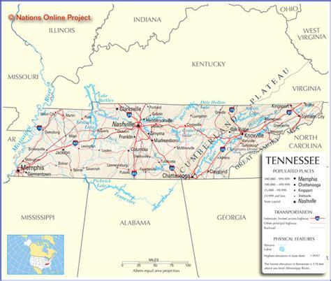 tennessee and map tennessee tourist map tennessee mappery