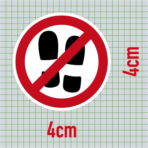 Aufkleber Rund 9 5 Cm by Aufkleber 4cm Rund Sticker Betreten Verboten Nicht Mit