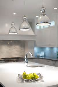 Mercury glass pendant light kitchen contemporary with faucet island