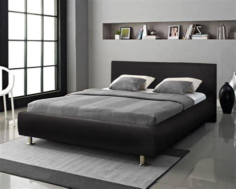 faux leather headboards for double beds designer bed double king size black white faux leather