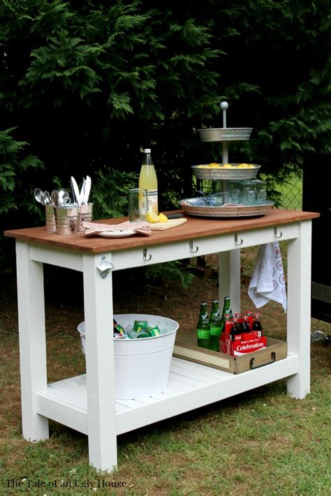 Pottery Barn Inspired Outdoor Buffet The Tale Of An Ugly Outdoor Buffet Table Serving Cart