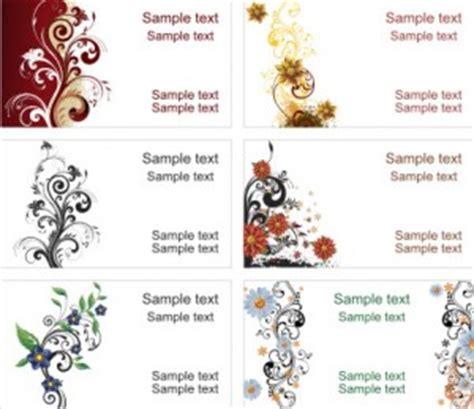 template ornamen undangan gambar vektor coreldraw template kartu nama 3