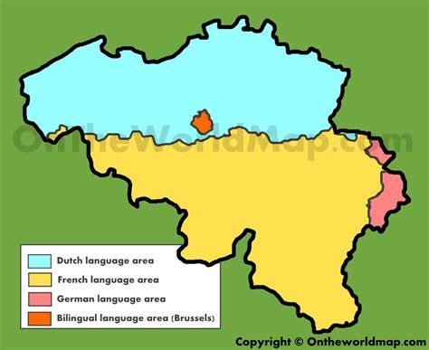 linguistic map of belgium belgium language map my