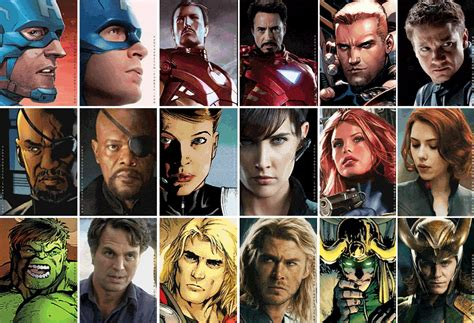 list of marvel actors marvel universe movie names how influential are they