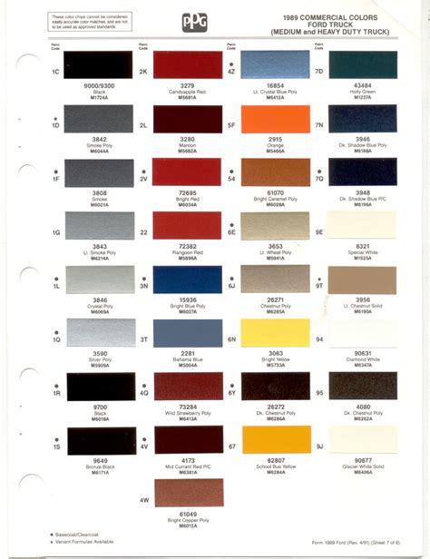 paint chips 1989 truck fleet commercial