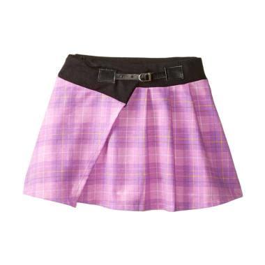 Rok Pendek Mini Anak Anak jual pola kotak rok pendek anak ungu harga kualitas terjamin blibli