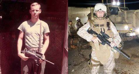 by laws young marines marine serves country in vietnam then again in iraq to