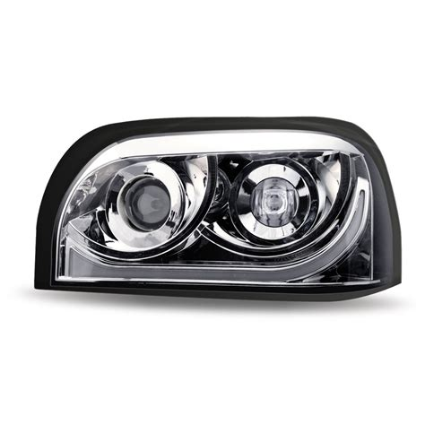ftl century chrome led projector headlight assembly driver side freightliner century