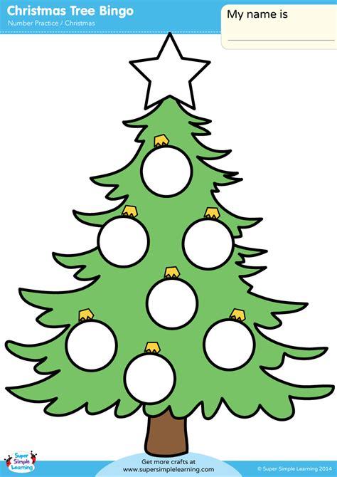 christmas tree bingo super simple