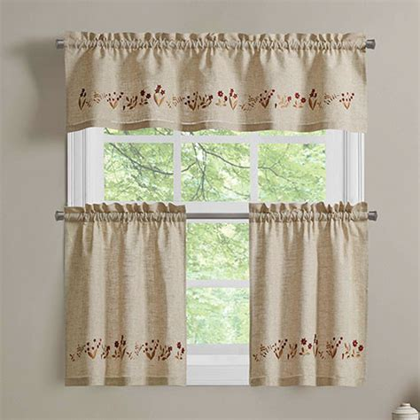 curtains boscovs lilly of the valley embroidered curtain collection boscov s