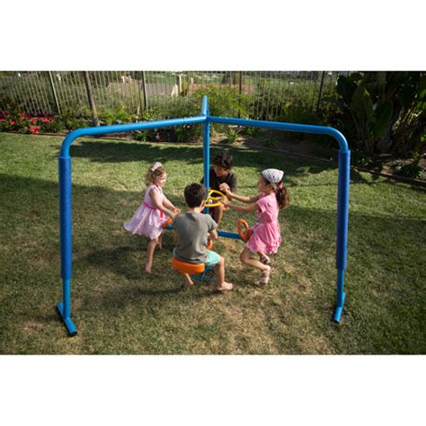 ironkids swing sets ironkids four station fun filled merry go round walmart com