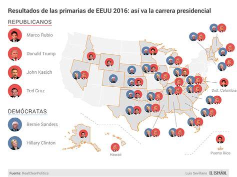 mapaor de elecciones usa 2016 calendario electoral elecciones usa 2016 las claves de