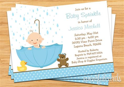 Baby Boy Sprinkle Shower by Baby Sprinkle Shower Invitation For Boy Also Available In